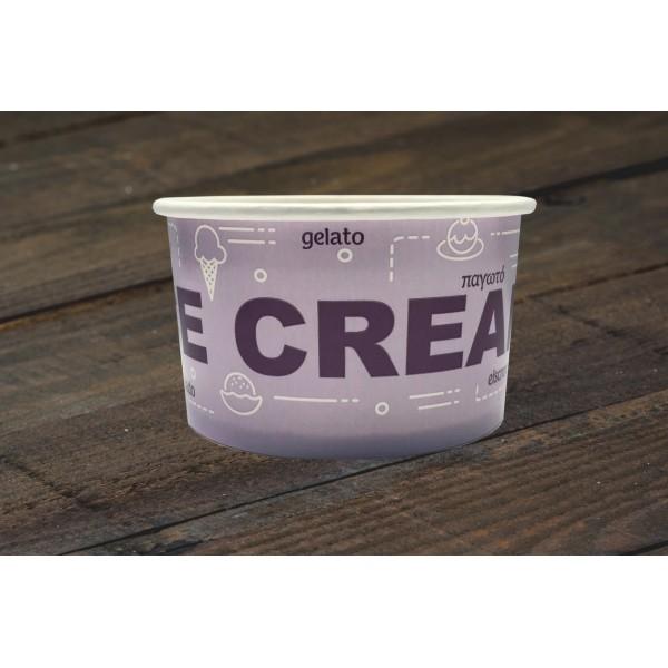 00081 Χάρτινο μπολ 250ml (8.5oz)  Σκεύη παγωτού  tsepaspack.gr