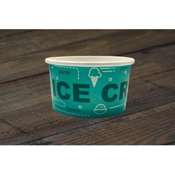 00172  Χάρτινο μπολ 170ml (5.5oz)  Σκεύη παγωτού  tsepaspack.gr