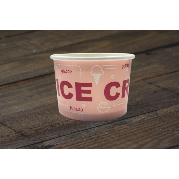 00750 Χάρτινο μπολ 130ml (4.5oz)  Σκεύη παγωτού  tsepaspack.gr