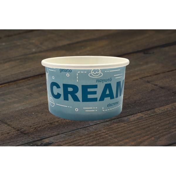 01466 Χάρτινο μπολ 100ml (3.5oz)  Σκεύη παγωτού  tsepaspack.gr